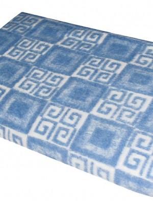Голубое Байковое жаккард 215х150 арт. 5772ВЖ 75%+25%вискоза х/б Ермолино одеяло