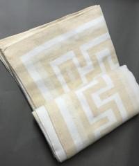 "Одеяло ""Греция"" 100% х/б 140х205 бел-беж Vladi байковое"