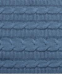 Плед вязаный цвета Серо-голубой