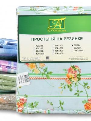 Простыня н/резинке 200х200 ткань хлопок