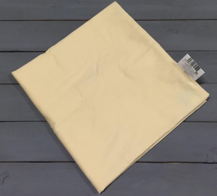 Бежевая наволочка ткань сатин 2шт.-50х70